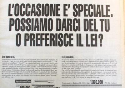 Pubblicità Zanantoni 1989